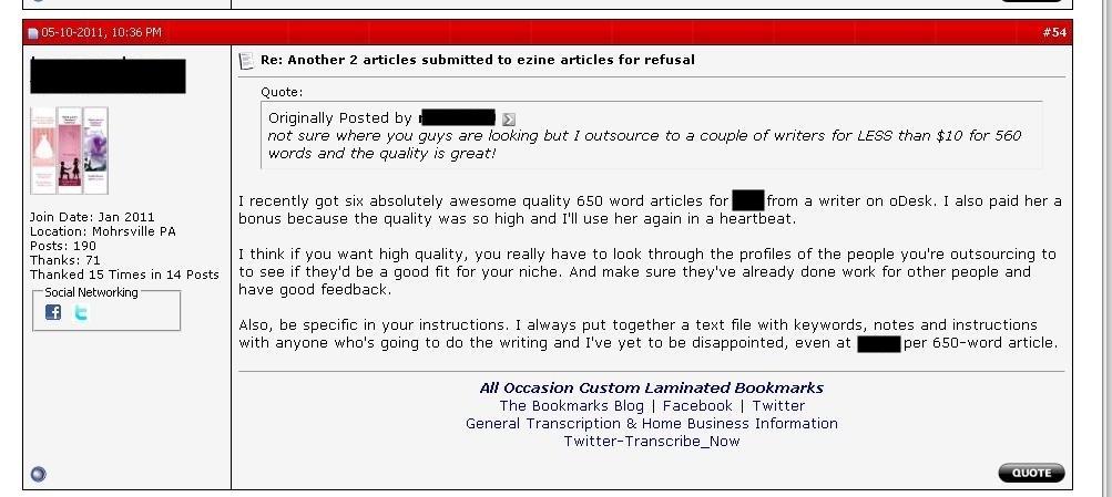 warrior forum recommendation