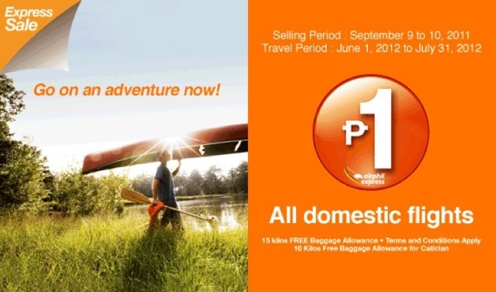 P1 promo ticket sale airphil express