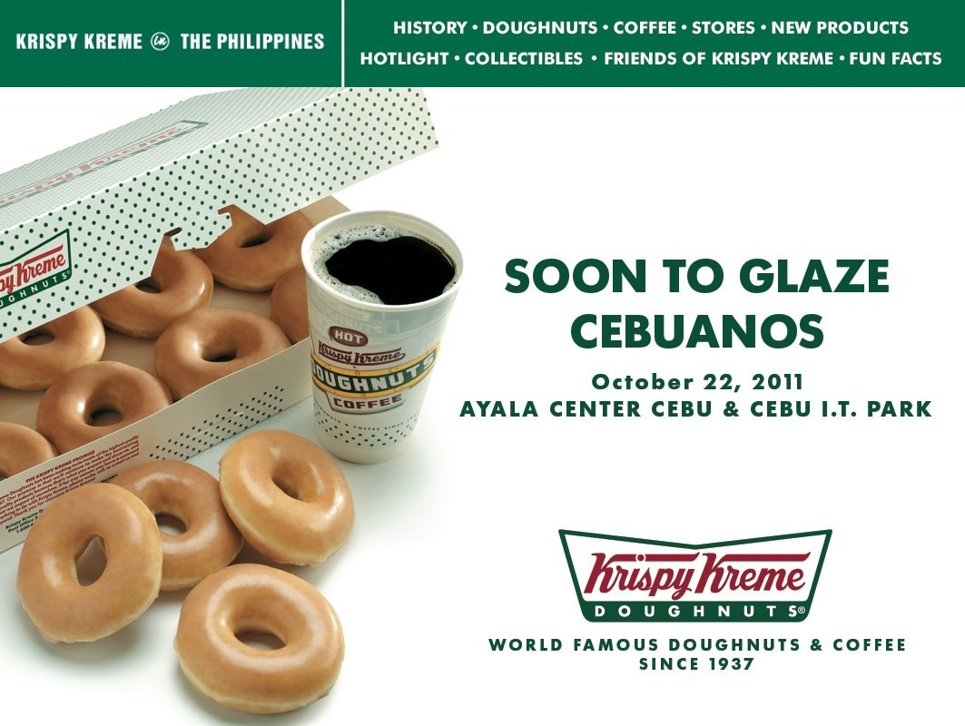 krispy kreme cebu store in ayala center cebu