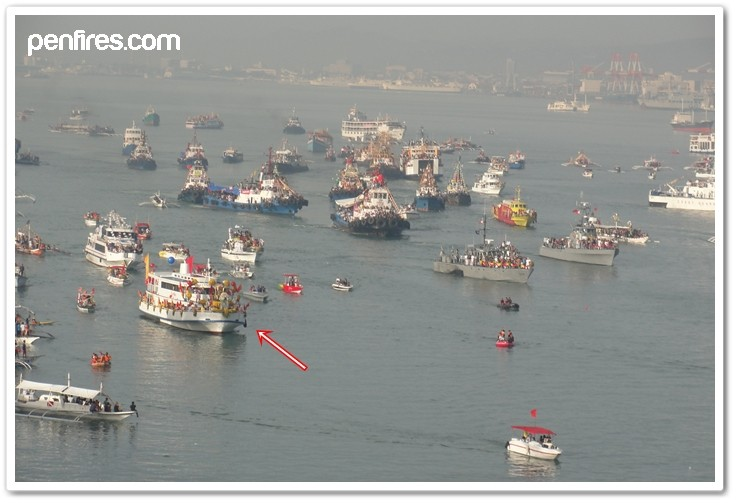 Boat carrying Senor Sto Nino in the Sinulog Fluvial Parade 2012