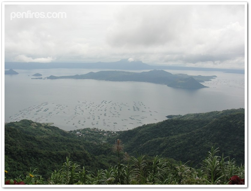 Serene Surrounding Looking at Taal Volcano in the waters of Taal Lake