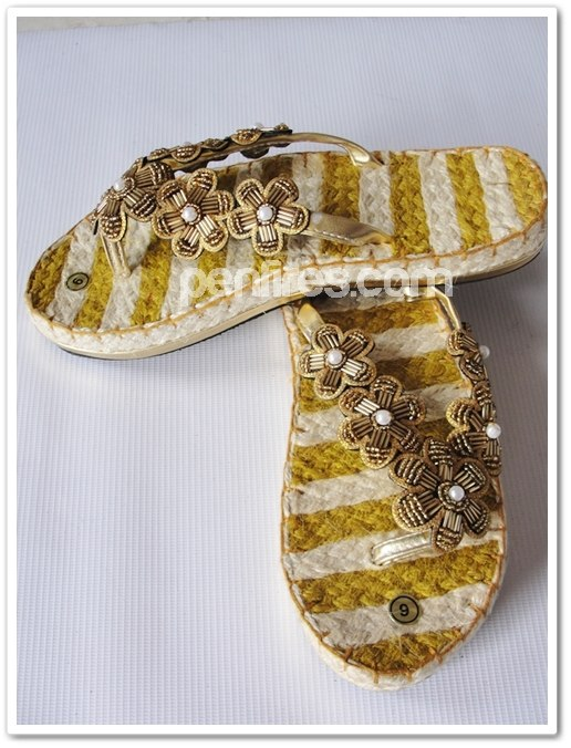 gold sandal abaca native from liliw