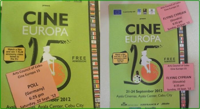 Cine Europa Film Showing in Ayala Center Cebu