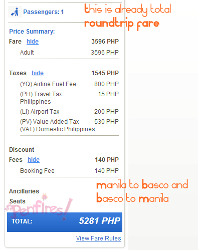 Ticket Cost to Batanes