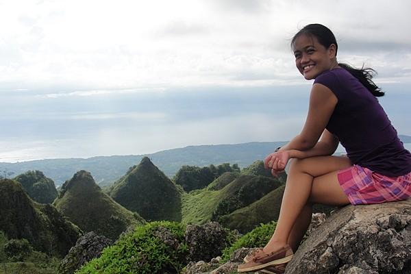 Cebu mountain and sea