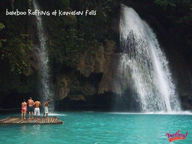 Kawasan Falls Bamboo Raft Ride