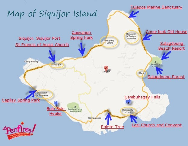 Map of Siquijor