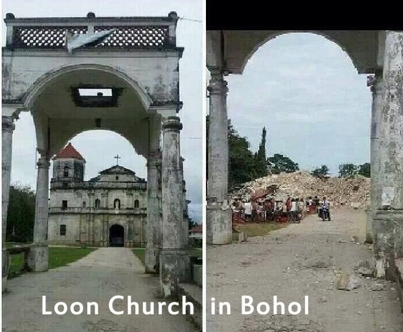 Bohol Loon Church Ruins