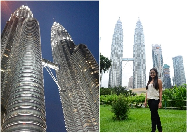 Day and Night View Petronas Tower Malaysia