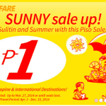 P1 Piso Fare Promo 2014 for April to December 15 via Cebu Pacific