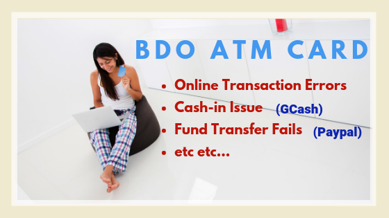 bdo can't cash-in to gcash